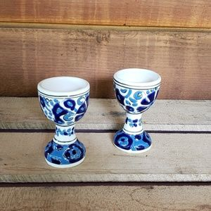 Other - Colbolt blue & white handmade in Paris egg cups